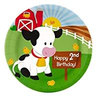 Barnyard 2nd Birthday Dinner Plates (8)