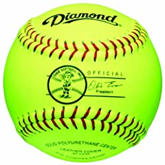 Buy Diamond Sports 11-Inch Youth Super Synthetic Softball (Dozen) by Diamond Sports