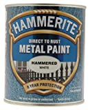Hammerite 5092971 750ml HM Metal Paint Hammered - White