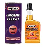 Wynns 2 Pack - Engine Flush Additive 425ml + Exhaust Stop Smoke Oil Treatment Supplement 350ml