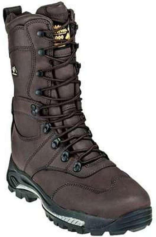Golden Retriever 4767 Men's Hiking Boots Dark Brown Leather 9.5 M US