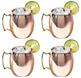 Moscow Mule Copper Mug / Cup, 16 Ounce, Set of 4