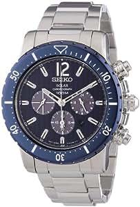 Seiko Herren-Armbanduhr XL Solar Chronograph Edelstahl SSC247P1