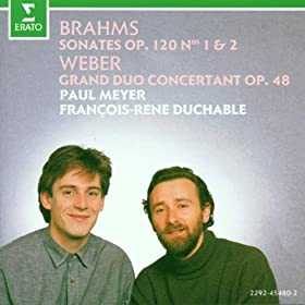 Brahms : Clarinet Sonata in E flat major Op.120 No.2 : IV