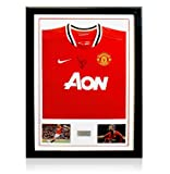 Framed Paul Scholes Front Signed Manchester United Jersey - 2011/2012