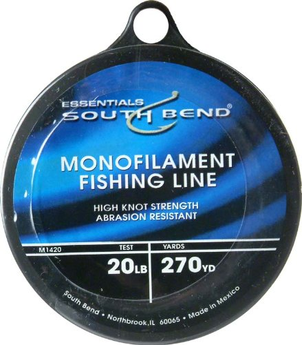 South bend monofilament 20lb 270yds super fishing tackle for 20 lb braided fishing line