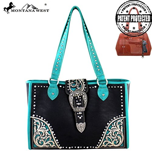 montana-west-buckle-collection-dual-sided-concealed-handgun-tote-bag-black