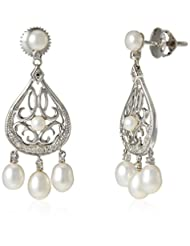 Tara Jewellers 18K White Gold Drop Earrings