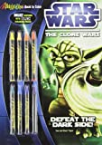 Star Wars the Clone Wars: Defeat the Dark Side! [With 8 Crayons] (Star Wars: Clone Wars (Dalmation))