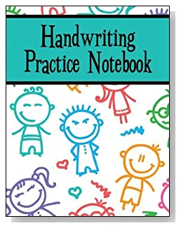 Handwriting Practice Notebook For Boys - Silly stick kids make a playful cover for this handwriting practice notebook for younger boys.