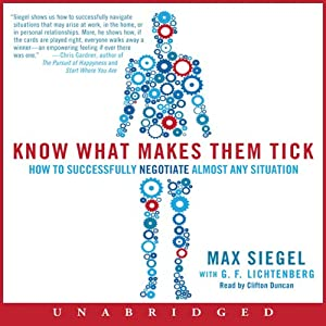 Know What Makes Them Tick: How to Successfully Negotiate Almost Any Situation | [Max Siegel, G. F. Lichtenberg]