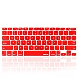iBenzer - Macaron Serie Red Keyboard Cover Silicone Rubber Skin for Macbook Pro 13'' 15'' 17'' (with or without Retina Display) Macbook Air 13'' and iMac - Red MKC01RD