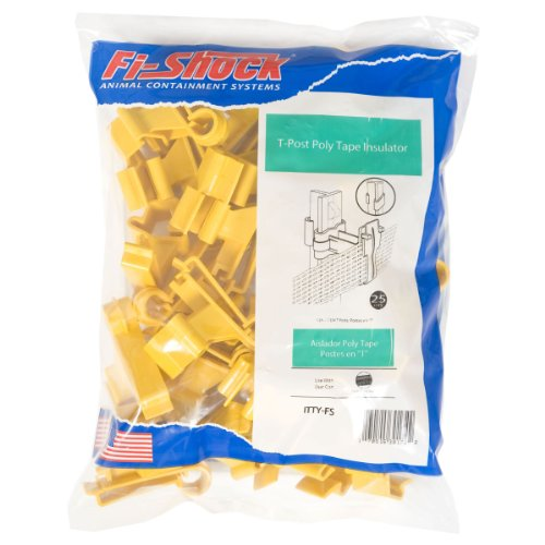 Fi-Shock Itty-Fs T-Post Poly Tape Insulator, Yellow