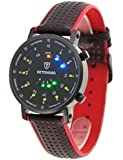 DeTomaso - G-30730C-R - Montre Homme - Quartz Digitale - Eclairage - Bracelet Cuir Multicolore