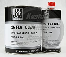 PCL 26 Flat Clearcoat 2613, 2630 Quart Kit