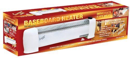Solace Zone® Low Profile Baseboard Silent Operation Heater CZ600