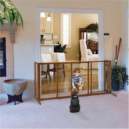 Richell Deluxe Freestanding Pet Gate With Door - Large
