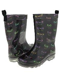 Capelli New York Girl's Smarty Owls Printed Rain Boot