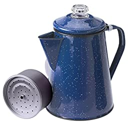 GSI Outdoors 12-Cup Enameled Percolator, Blue; 15155