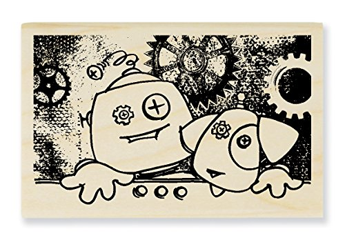 Stampendous Screwy Pals Rubber Stamp - 1