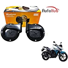 Auto Hub WindTone Roots Bike Horn For Yamaha FZ S - Set Of Two (Black)