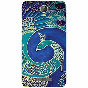 Micromax Canvas Juice 2 Back Cover - Silicon Blued Designer Cases