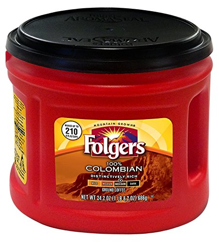 Folgers 100% Colombian Ground Coffee, 24.2 oz