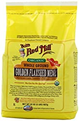 Bob's Red Mill Organic Golden Flaxseed Meal, 32-Ounce Packages (Pack of 4)