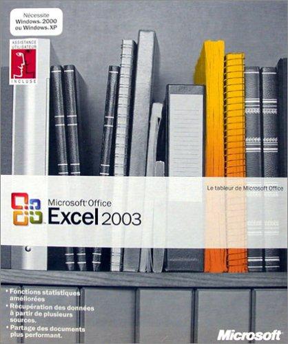 Microsoft Office Excel 2003 - Ensemble Complet - 1 Utilisateur - Cd - Win - Français