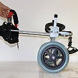 犬車いす 中型犬用2輪 歩行器 車いす カート Sサイズ, 犬の重量:9--18KGS, 長さは幅が高い -調整可能な