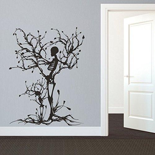 Mairgwall Gothic Wall Decal Halloween Decor Skeleton Art