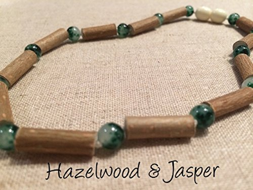 Green Jasper Hazelwood 12.5 to 13 inches Necklace for babies baby infant toddler bub for Gut issues; Eczema, Colic, Reflux, GERD, heartburn, and ulcers. 100% Satisfaction Guaranteed. 33-34 cm 12-13 inches