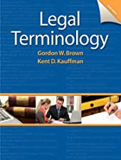 Legal Terminology Update by Gordon Brown