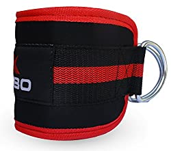 Kobo Gym Ankle Strap Workout Cuffs Straps Cable Machine Lifting Attachment Multi Gyms Leg Thigh Pulley (Professional Heavy Duty)