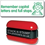 Remember capital letters and full stops Green Inked Stack N Stamp