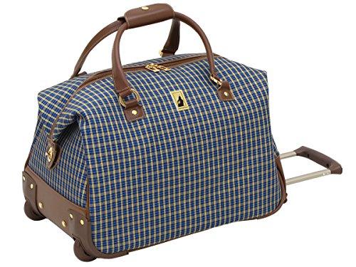 london-fog-kensington-20-inch-wheeled-club-bag-blue-tan-plaid-one-size