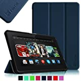 Fintie Ultra Slim Lightweight Shell Case Leather Standing Cover for 8.9 inch Amazon Kindle Fire HDX - Navy