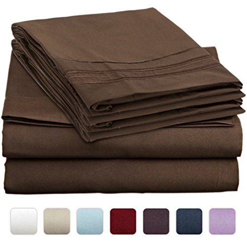 #1 Bed Sheet Set On Amazon - Super Silky Soft - Sale - Highest Quality 100% Brushed Microfiber 1800 Bedding Collections - Wrinkle, Fade, Stain Resistant - Hypoallergenic - Deep Pockets - Luxury Fitted & Flat Sheets, Pillowcases - Best For Bedroom, Guest R front-181035