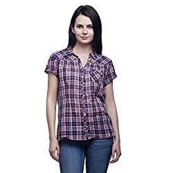 MansiCollections Women's Checkered Casual Multicolor Shirt (XXX-Large)