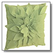 Sara's Garden Petal Decorative Throw Pillow. 17 Inch Square.
