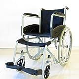 【ホーク】経済的にも機能的にも大満足!自走式スチール車椅子 ノーパンクタイヤ 折り畳み 介助用 ブラック 車いす