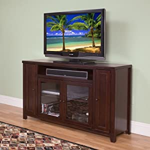 kathy ireland home by martin tribeca loft cherry 36 tall tv stand fully assembled. Black Bedroom Furniture Sets. Home Design Ideas