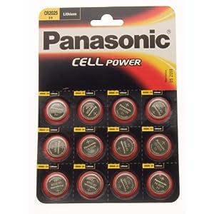 Ukdapper - Panasonic Lithium Coin Cells CR2025-C12
