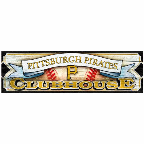 MLB Pittsburgh Pirates 9-by-30 Wood Sign