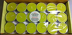 Seychelles Yellow Citronella Oil Scented Smokeless Tealights Mosquito Repellent Pack of 36 (5-6 Hrs burning time)