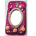 EVTECH(TM) 3D Handmade Rhinestone Series Crystal Diamond Design Glitter Case Cover for amsung Galaxy S4 9500 9505 M919,SCH-R970X,Samsung Galaxy S4 C Spire,Samsung Galaxy S4 AT&T,Samsung Galaxy S4 Cricket,SGH-i337,SCH-R970C,Samsung Galaxy S4 LTE+,GT-i9506; I9506,SHV-E330S; SHV-E330K; SHV-E330L,Samsung Galaxy S4 LTE-A,Samsung Galaxy S4 Sprint,SPH-L720,SGH-M919,T-Mobile,Samsung Galaxy S4 U.S. Cellular,(not fit S4 active version)