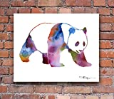 """Panda"" Abstract Watercolor Art Print By Artist Dj Rogers"