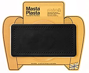 MastaPlasta Peel and Stick First-Aid Leather Repair Band-Aid. Plain design 4-inch by 2.4-inch. BLACK ...