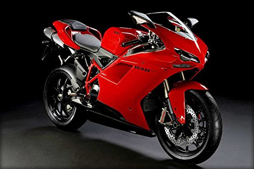 Red Matte Black Complete Fairing Injection for 2007-2012