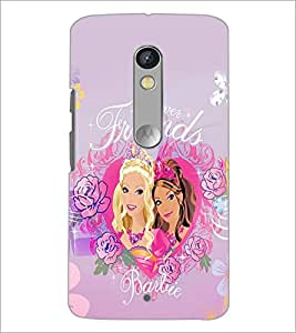PrintDhaba Forever Friends D-1077 Back Case Cover for MOTOROLA MOTO X PLAY (Multi-Coloured)